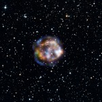 This new view of the historical supernova remnant Cassiopeia A, located 11,000 light-years away, was taken by NASA's Nuclear Spectroscopic Telescope Array, or NuSTAR.