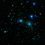 The Coma Cluster, the largest member of the Coma Supercluster. Image credit: NASA / JPL-Caltech / Goddard Space Flight Center / Sloan Digital Sky Survey.